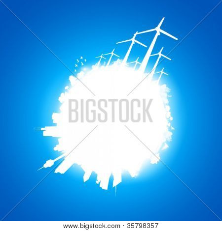 abstract planet Earth illustration - vector
