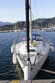 pic of safe haven  - close up detail of sailing yacht in port - JPG