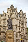 image of devonshire  - Statue of Duke of Devonshire on the Whitehall London UK - JPG