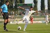 KAPOSVAR, HUNGARY - AUGUST 4: Bojan Vrucina (white 19) in action at a Hungarian National Championshi