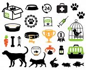 stock photo of dog poop  - Pet icons collection - JPG