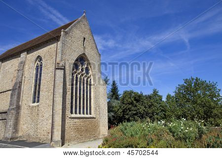 Parthenay ancient gothic church, Poitou-Charentes, France