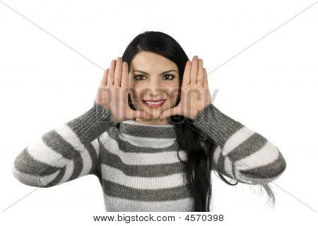 Beauty Woman Framing Face