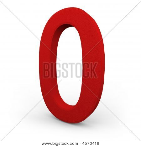 Number Zero On White Background