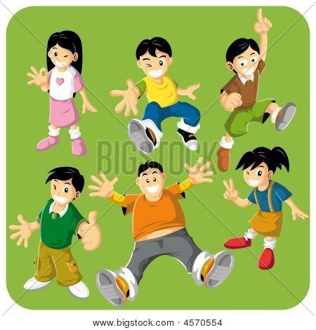 Cheerful Kids Character