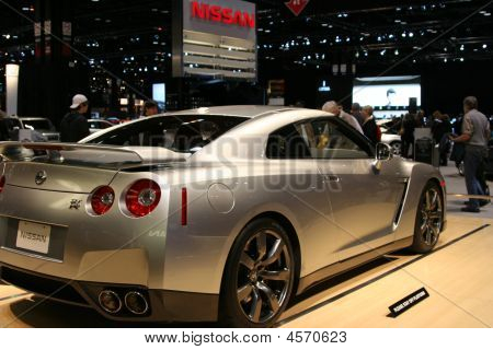 Nissan Gt-r Displayed At The Autoshow 2009 In Chicago