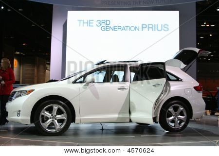 The 2009 Toyota Prius At The Autoshow  In Chicago