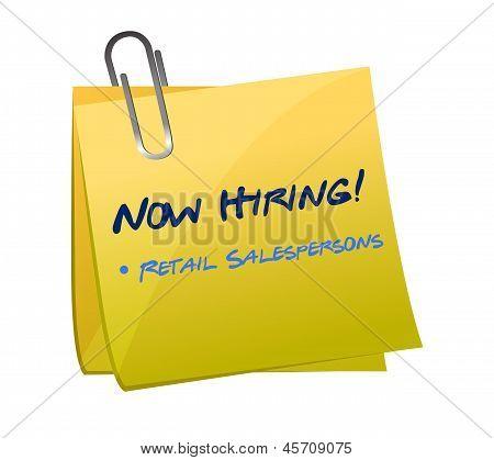 Hiring Retail Salespersons Post Illustration