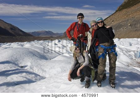Friends On The Cerro Torre Glacier
