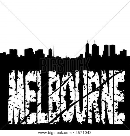 Grunge Melbourne With Skyline