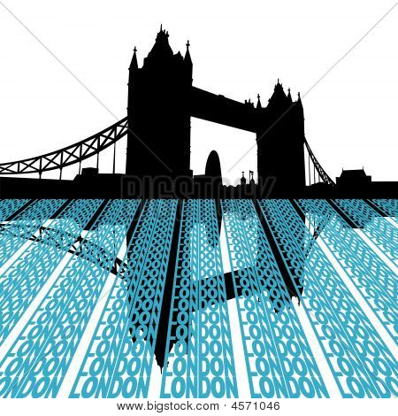 Tower Bridge With London Text