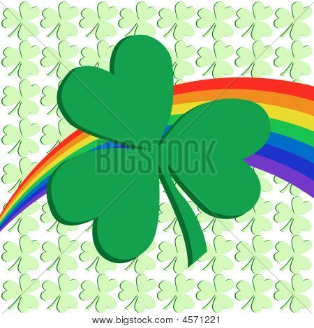 Shamrock And Rainbow
