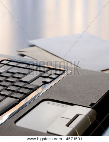 Laptop And Letters