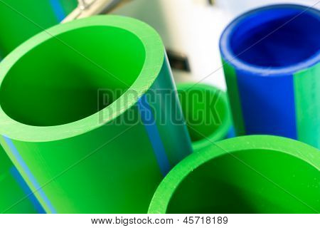 Set of big polymer pipes