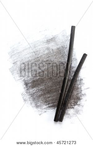 Charcoal sticks for drawing with smudge
