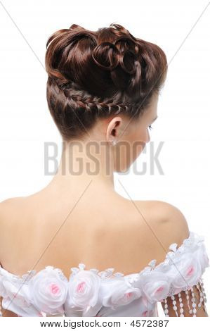 Rear View Of Modern Wedding Hairstyle