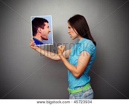 concept photo of quarrel between husband and wife