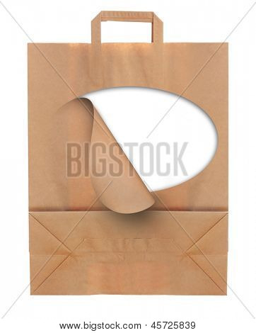 Paper shopping eco bag