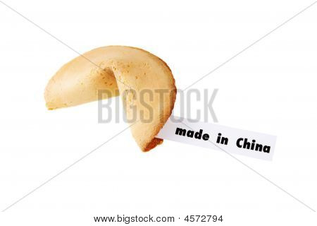 Hecho en China - una galleta de la fortuna