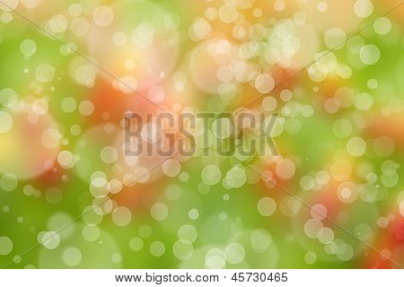 Abstract green spring background with bokeh effect