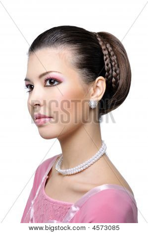Beauty Woman With Fashion Hairstyle