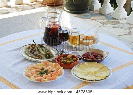 Spanish tapas selection.