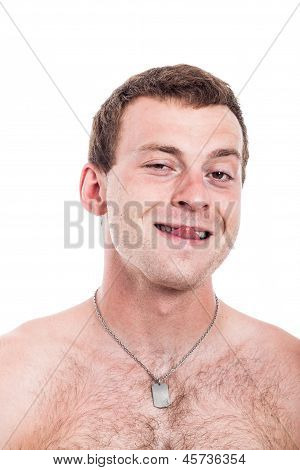 Funny Shirtless Man