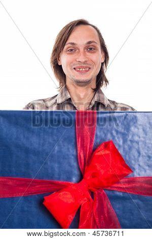 Lustig mit großen Geschenk