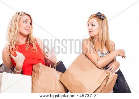 Jealous Girls Shopping And Arguing