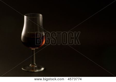 Whisky Tasting Glass On Black