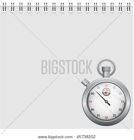 Note and stopwatch