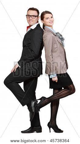 Gelukkige jonge paar