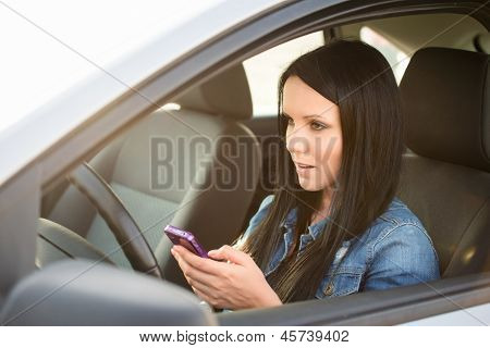Danger - using smartphone and driving