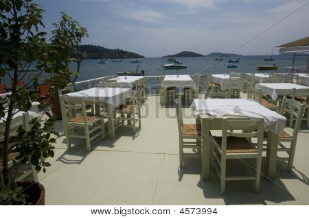 Dining Tables With A View Of The Sea Skiathos