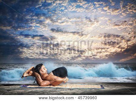 Yoga Nidrasana Yogic Sleep Pose