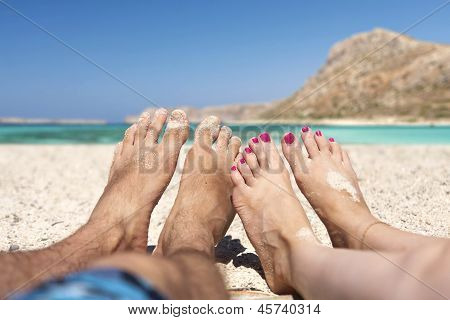 Relaxing at Beach