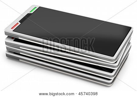 3D Stack Of Smartphones