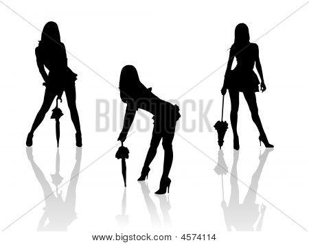 Hot Girls With Umbrellas