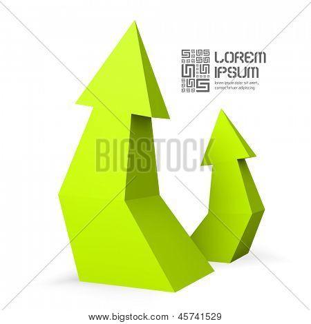 3D arrows. Vector illustration.
