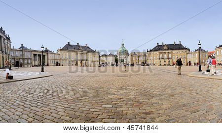 Tourists Amalienborg Palace Copenhagen Denmark