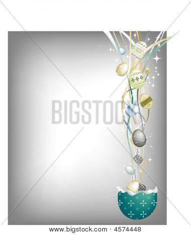 Intricate Easter Silver Background.eps