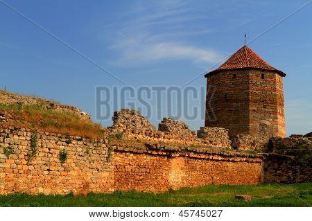 Old Fortress In Town Bilhorod-dnistrovski Odessa Region