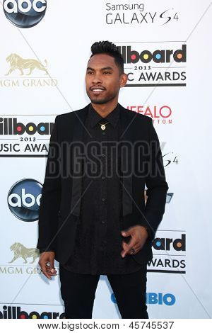 LOS ANGELES -  MAY 19:  Miguel arrives at the Billboard Music Awards 2013 at the MGM Grand Garden Arena on May 19, 2013 in Las Vegas, NV