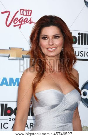LOS ANGELES -  MAY 19:  Shania Twain arrives at the Billboard Music Awards 2013 at the MGM Grand Garden Arena on May 19, 2013 in Las Vegas, NV