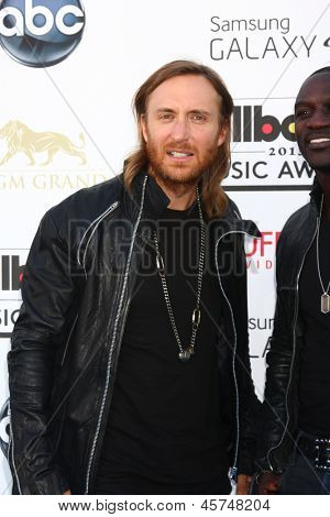 LOS ANGELES -  MAY 19:  David Guetta arrives at the Billboard Music Awards 2013 at the MGM Grand Garden Arena on May 19, 2013 in Las Vegas, NV