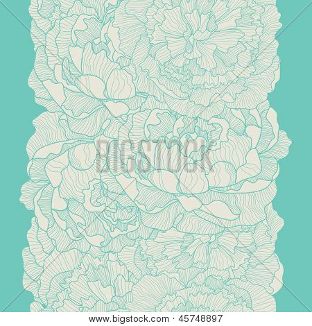 Vintage floral background made of peony. Seamless pattern can be used for wallpapers, pattern fills, web page backgrounds,surface textures. Gorgeous seamless