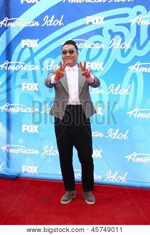 LOS ANGELES - MAY 16:  Psy arrives at the American Idol Season 12 Finale at the Nokia Theater at LA Live on May 16, 2013 in Los Angeles, CA