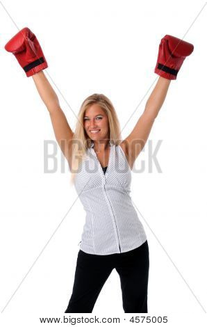 Woman Celebrating Victory