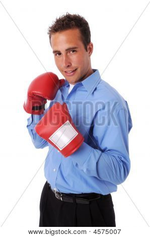 Businessman With Gloves