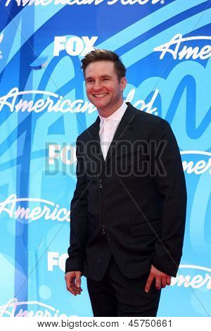 LOS ANGELES - MAY 16:  Blake Lewis arrives at the American Idol Season 12 Finale at the Nokia Theater at LA Live on May 16, 2013 in Los Angeles, CA